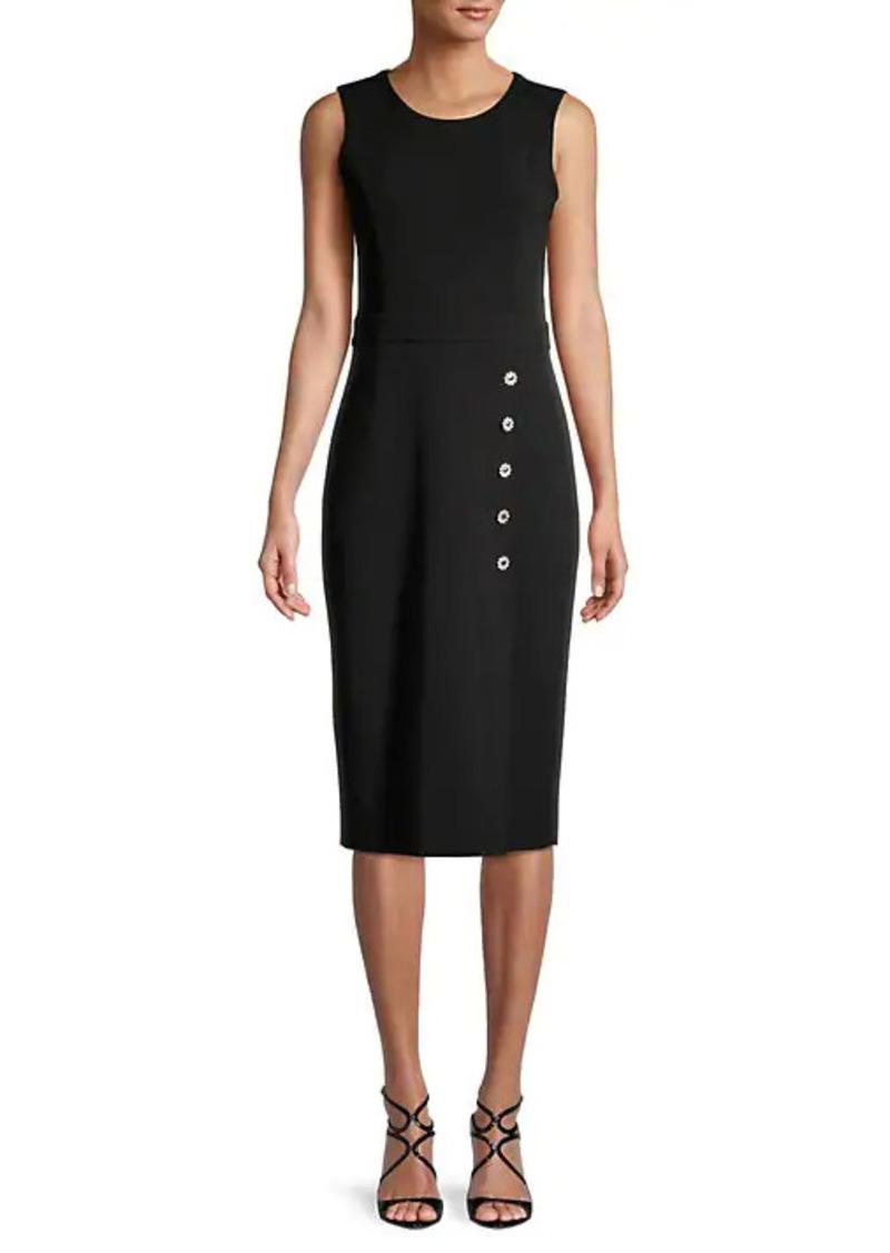Karl Lagerfeld Roundneck Sheath Dress