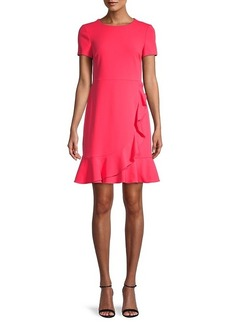 Karl Lagerfeld Ruffle Short-Sleeve A-Line Dress