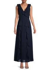 Karl Lagerfeld Ruffled Chiffon Gown