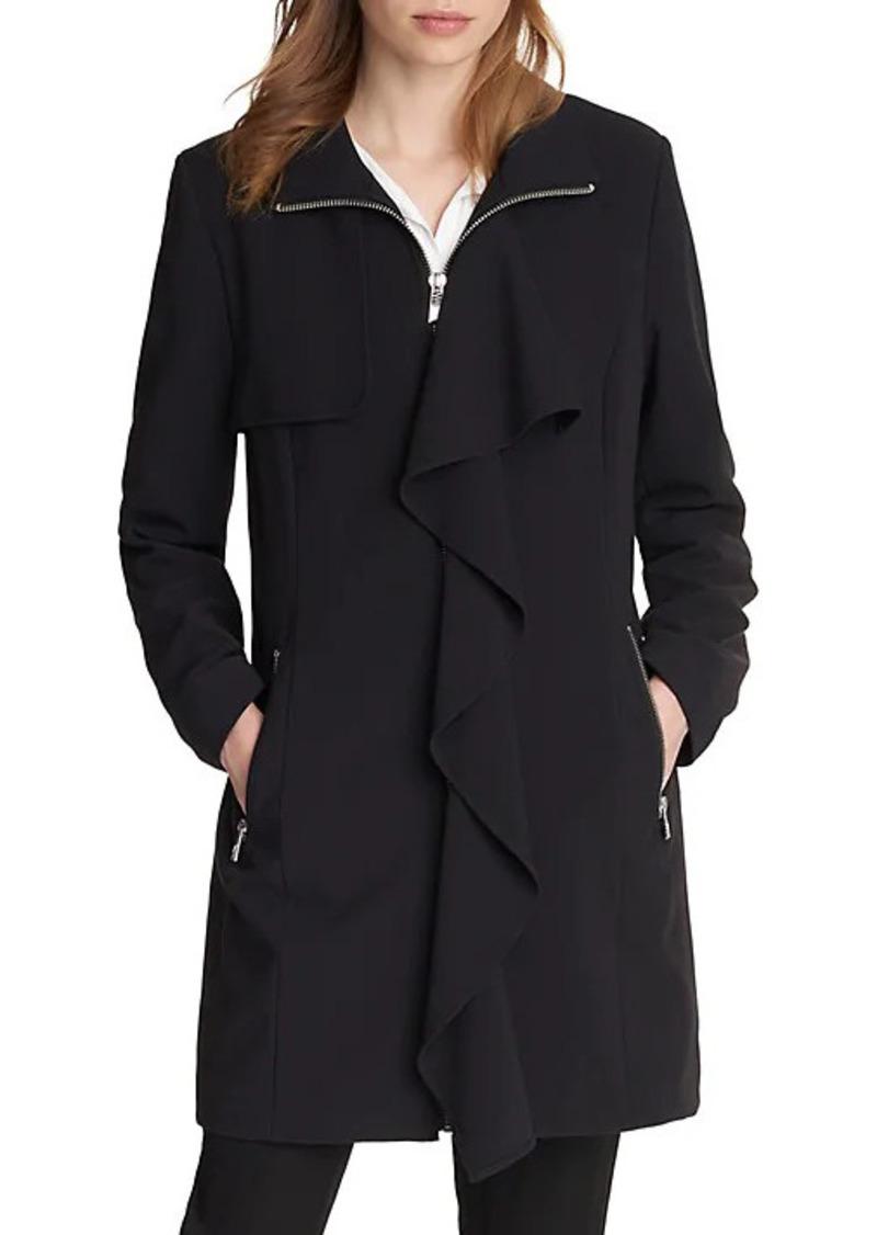 Karl Lagerfeld Ruffled-Front Jacket