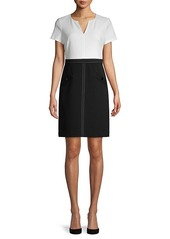 Karl Lagerfeld Short-Sleeve Colorblock Sheath Dress