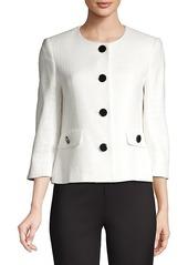 Karl Lagerfeld Short Tweed Jacket