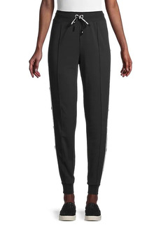 Karl Lagerfeld Side-Button Joggers