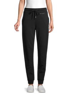 Karl Lagerfeld Side-Stripe Cotton-Blend Pants