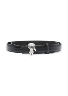 Karl Lagerfeld skinny belt with Karl detail