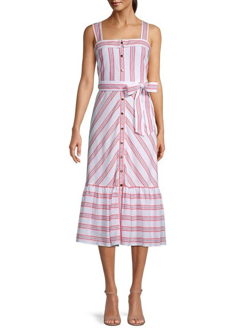 Karl Lagerfeld Sleeveless Striped Dress