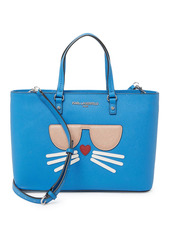 Karl Lagerfeld Small Printed Leather Tote