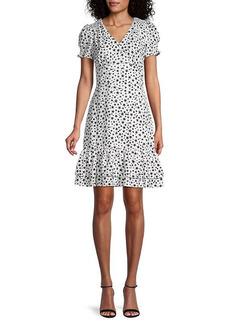 Karl Lagerfeld Star-Print Empire Waist Dress