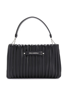 Karl Lagerfeld stripe quilted finish clutch bag