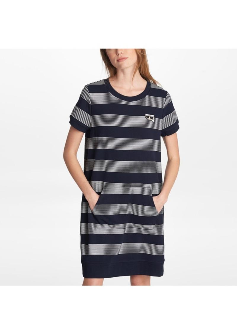Karl Lagerfeld Paris Stripe Sweater Dress