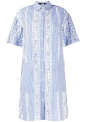 Karl Lagerfeld striped embroidered shirt dress