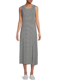 Karl Lagerfeld Striped Midi Dress