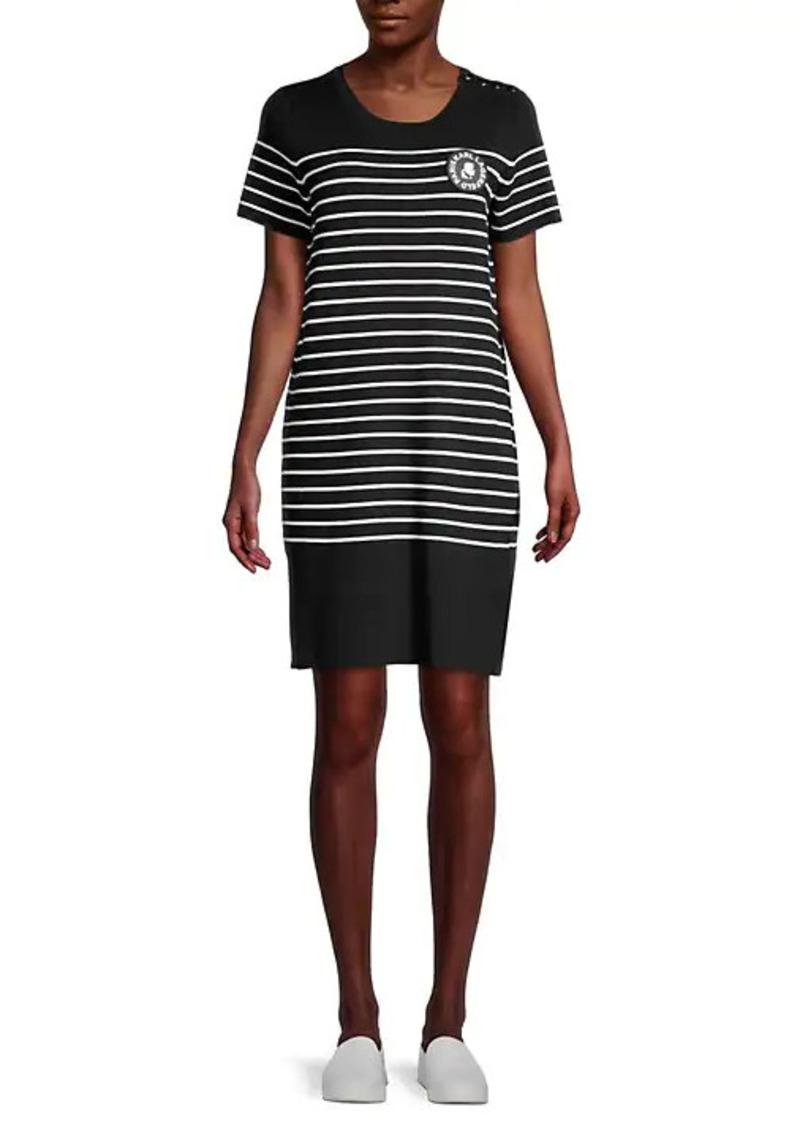 Karl Lagerfeld Striped Sweater Dress