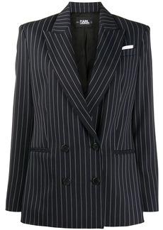 Karl Lagerfeld STUDIO KL pinstripe double-breasted blazer