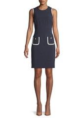 Karl Lagerfeld Textured Sleeveless Sheath Dress