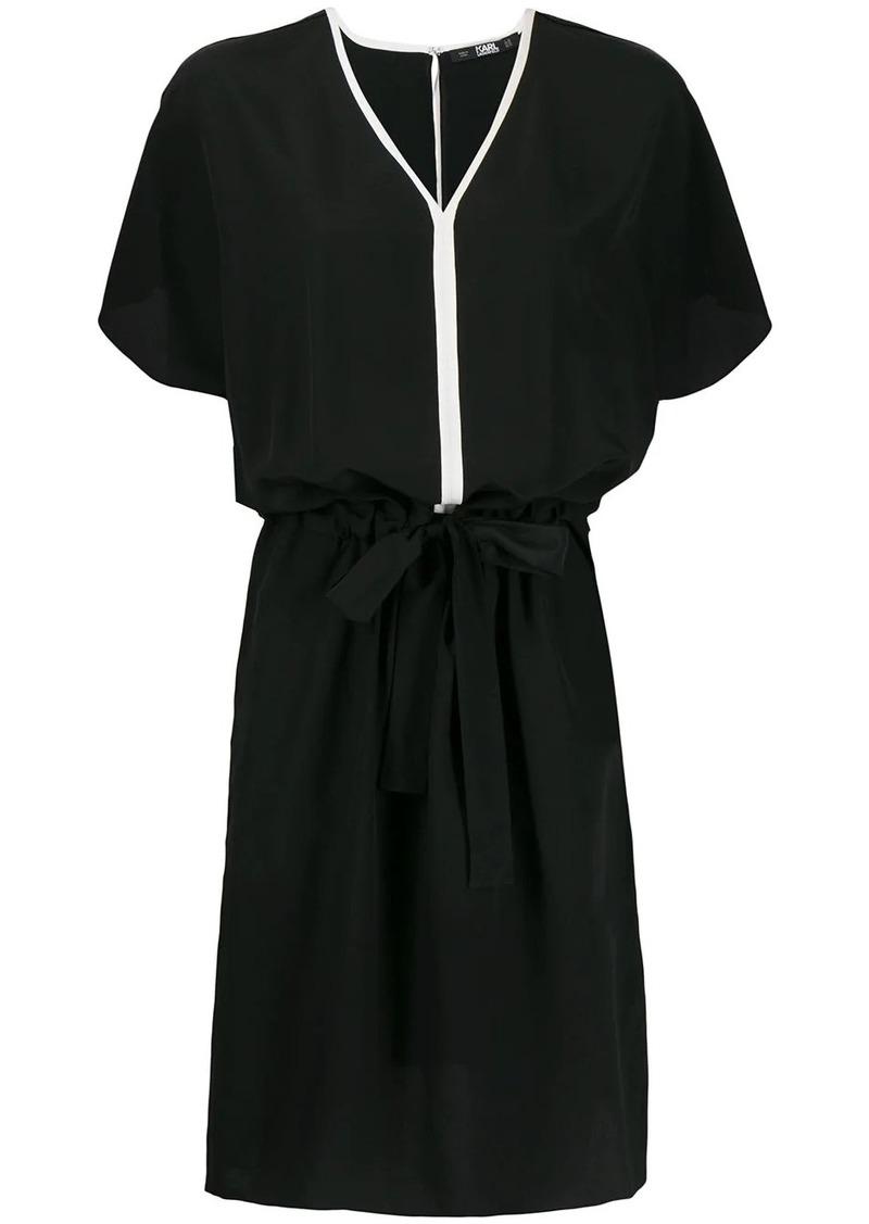 Karl Lagerfeld tie-fastening silk dress