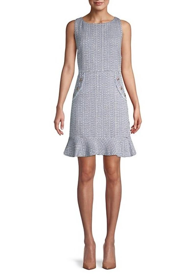 Karl Lagerfeld Tweed Flounce Dress