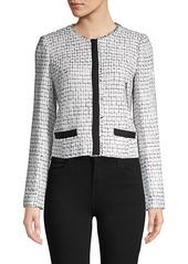 Karl Lagerfeld Tweed Long-Sleeve Jacket