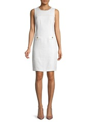 Karl Lagerfeld Tweed Sheath Dress