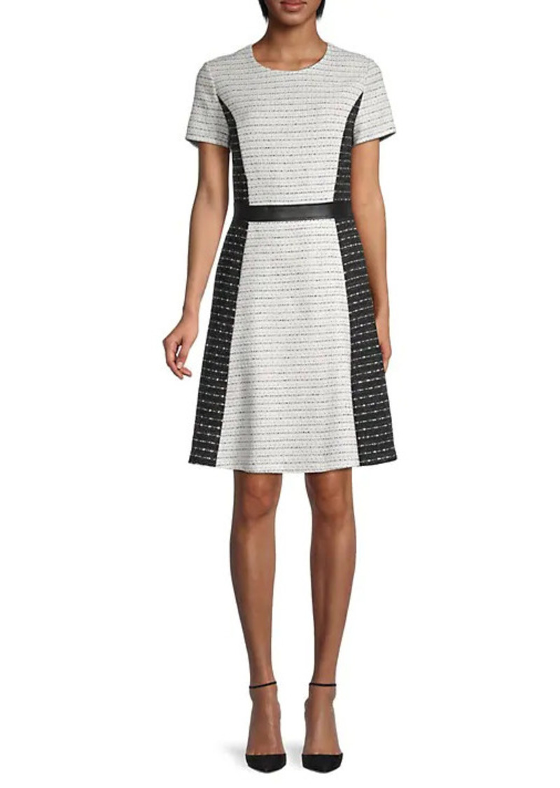 Karl Lagerfeld Tweed Striped Dress