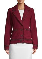 Karl Lagerfeld Tweed-Trim Jacket