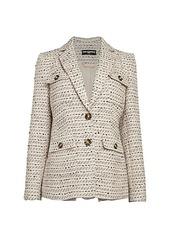 Karl Lagerfeld Tweed Wool-Blend Blazer
