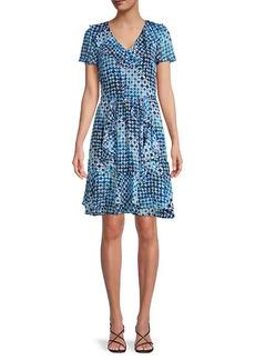 Karl Lagerfeld V-Neck A-Line Dress