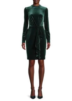 Karl Lagerfeld Velvet Ruffled Dress