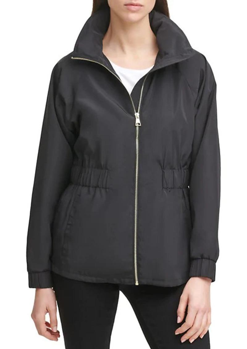 Karl Lagerfeld Water-Resistant Peplum Jacket