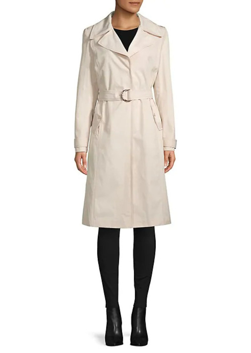 Karl Lagerfeld Water-Resistant Pleated Trench Coat