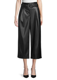 Karl Lagerfeld Wide-Leg Faux Leather Pants