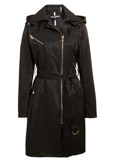 Women's Karl Lagerfeld Paris Asymmetrical Front Zip Trench Coat