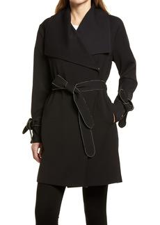 Women's Karl Lagerfeld Paris Drop Belted Trench Coat