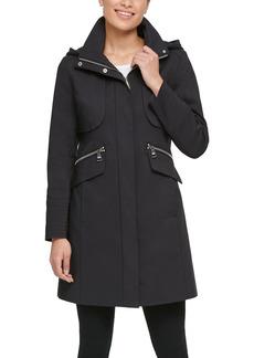 Women's Karl Lagerfeld Paris Hooded Officer Coat