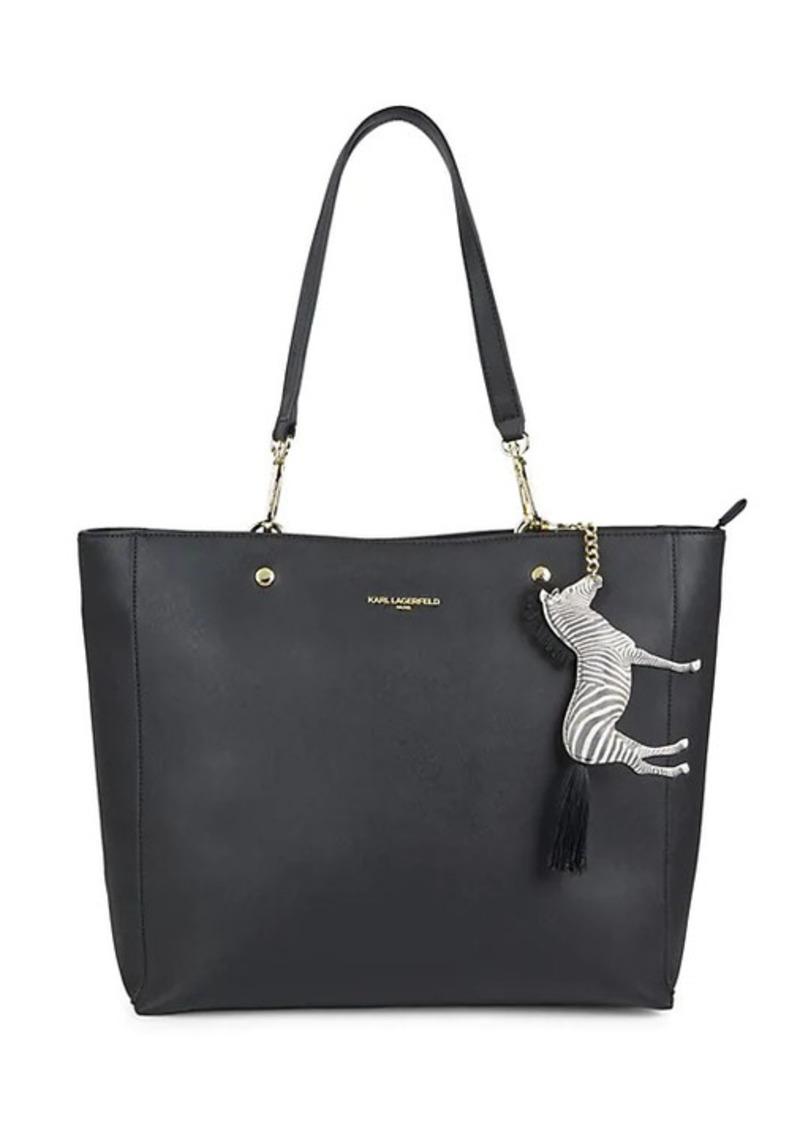 Karl Lagerfeld Zebra-Charm Shopper Tote
