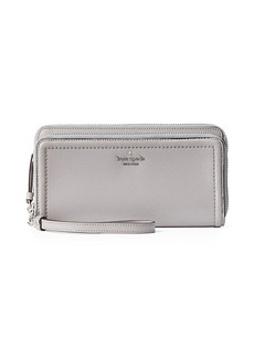Kate Spade Anita Double-Zip Leather Wristlet Wallet