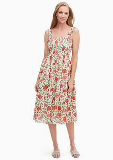 Kate Spade Bold Garden Blooms Smocked Dress