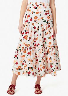 Kate Spade Botanical Garden Ruffle Skirt