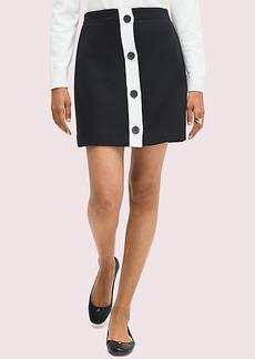 Kate Spade Colorblock Button-Through Skirt