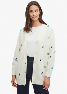 Kate Spade Dainty Bloom Appliqué Cardigan