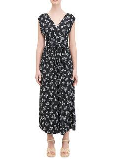 Kate Spade dandelion floral print crepe jumpsuit