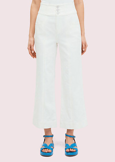 Kate Spade Denim Cropped Flare Pant