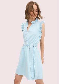 Kate Spade Denim Ruffle Dress