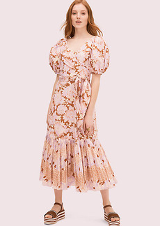 Kate Spade Exotic Bloom Poplin Dress
