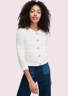 Kate Spade Jewel Button Texture Cardigan