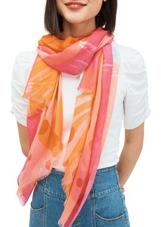 kate spade new york abstract cocktail scarf