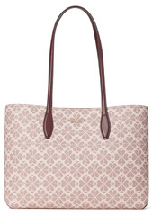 kate spade new york all day spade flower coated canvas tote