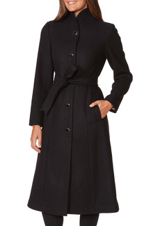 kate spade new york belted wool blend coat