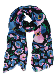 kate spade new york boldly poppy oblong scarf