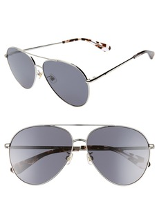 kate spade new york carolane 61mm special fit polarized aviator sunglasses